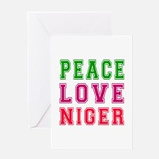 Peace Love Niger Greeting Card