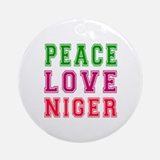 Peace Love Niger Ornament (Round)