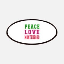 Peace Love Montenegro Patches