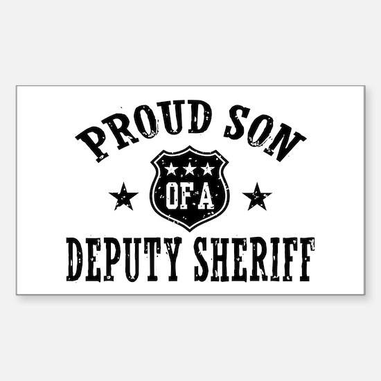 Proud Son of a Deputy Sheriff Sticker (Rectangle)