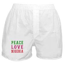 Peace Love Nigeria Boxer Shorts