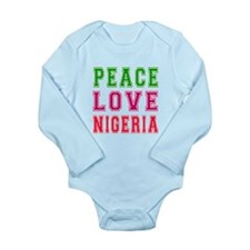 Peace Love Nigeria Long Sleeve Infant Bodysuit