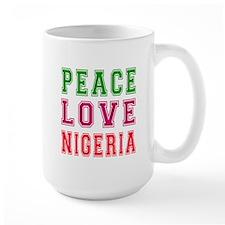 Peace Love Nigeria Mug