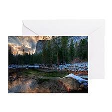 Tenaya Creek at Sunset / Yosemite Na Greeting Card