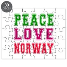 Peace Love Norway Puzzle