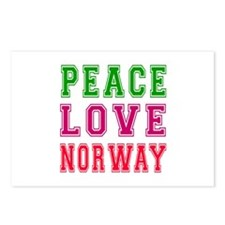Peace Love Norway Postcards (Package of 8)