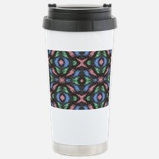 Colorful pattern on black Stainless Steel Travel M