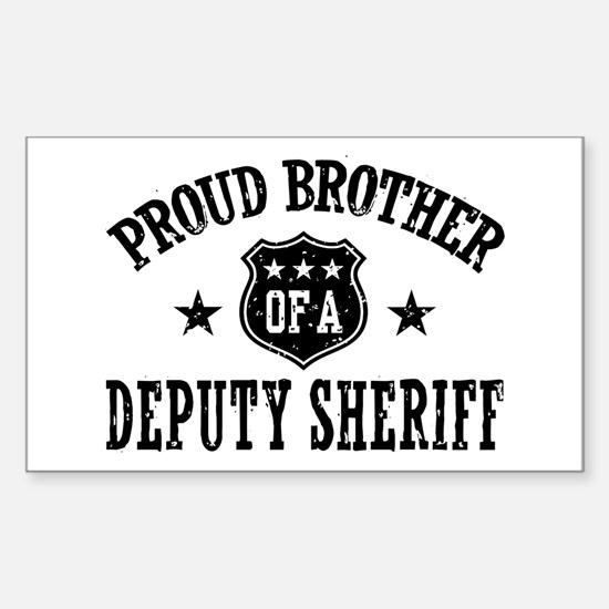 Proud Brother of a Deputy Sheriff Decal