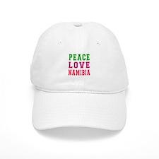 Peace Love Namibia Baseball Cap