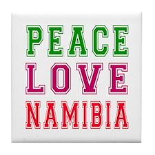 Peace Love Namibia Tile Coaster