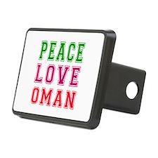 Peace Love Oman Hitch Cover