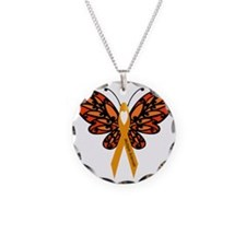MS Heart Butterfly Necklace