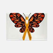 MS Heart Butterfly Magnets