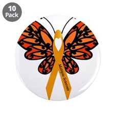 "MS Heart Butterfly 3.5"" Button (10 pack)"