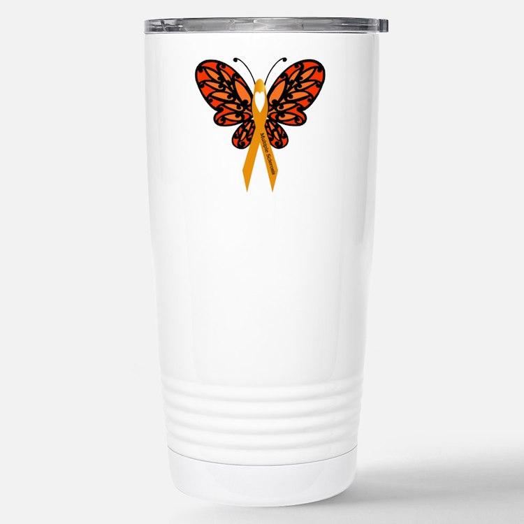 MS Heart Butterfly Travel Mug