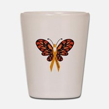 MS Heart Butterfly Shot Glass