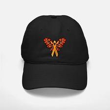MS Heart Butterfly Baseball Hat