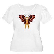 MS Heart Butterfly Plus Size T-Shirt