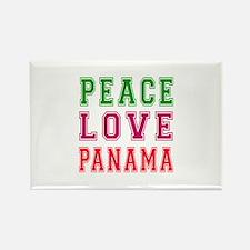 Peace Love Panama Rectangle Magnet