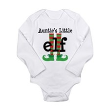 Auntie's Little Elf Long Sleeve Infant Bodysuit