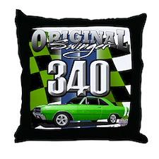 340 SWINGER GREEN Throw Pillow