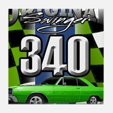 340 SWINGER GREEN Tile Coaster