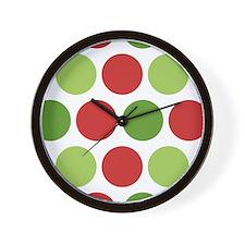 Big Christmas Polka Dots Wall Clock