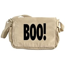 Boo! in black Messenger Bag