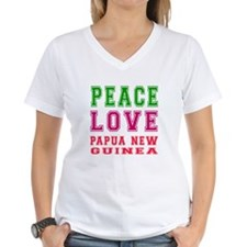 Peace Love Papua New Guinea Shirt