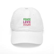 Peace Love Papua New Guinea Baseball Cap