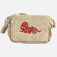Cartoon Octopus Messenger Bag