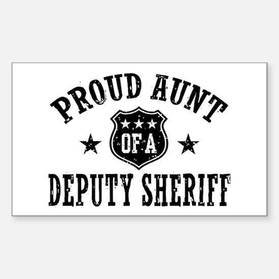Proud Aunt of a Deputy Sheriff Sticker (Rectangle)