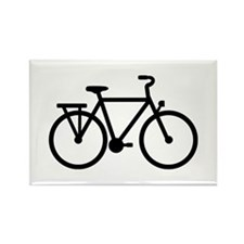 City Bicycle bike Rectangle Magnet