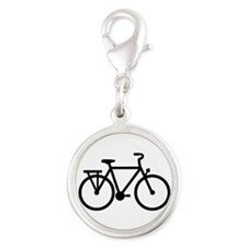City Bicycle bike Silver Round Charm