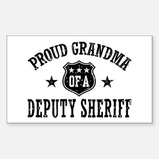 Proud Grandma of a Deputy Sheriff Decal
