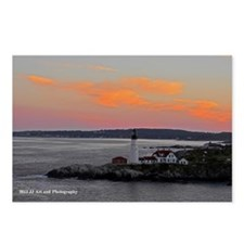 Lighthouse Sunset Postcards (Package of 8)