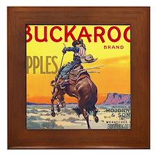 Vintage Fruit Crate Label Framed Tile