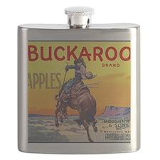Vintage Fruit Crate Label Flask