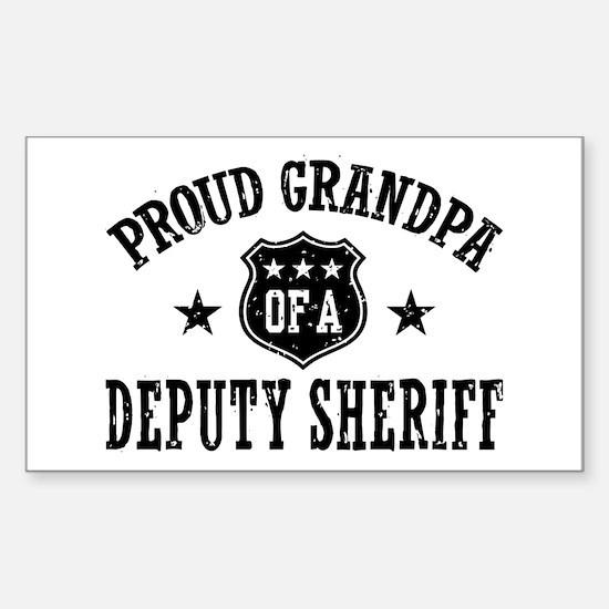 Proud Grandpa of a Deputy Sheriff Decal