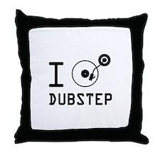I play Dubstep / I love Dubstep / I h Throw Pillow