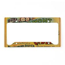 Vintage Label Art License Plate Holder
