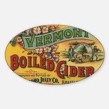 Vintage Label Art Sticker (Oval)