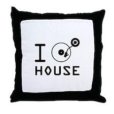I play House Music / I love House Mus Throw Pillow