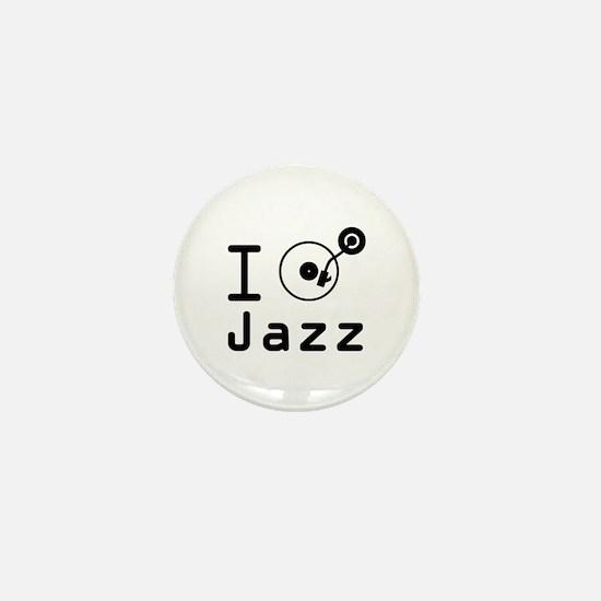 I Play jazz I play jazz / I love jazz  Mini Button