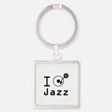 I Play jazz I play jazz / I love j Square Keychain