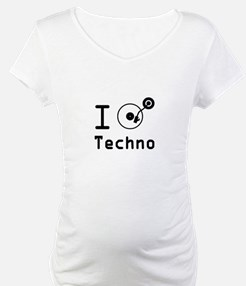 I play Techno Music Rave / I lov Shirt