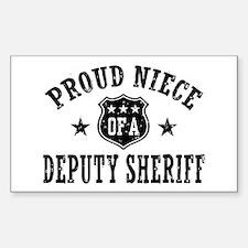 Proud Niece of a Deputy Sheriff Decal