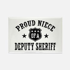 Proud Niece of a Deputy Sheriff Rectangle Magnet