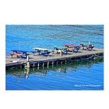 Picnic Tables on Pier Postcards (Package of 8)