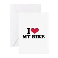 I love my bike Greeting Cards (Pk of 10)